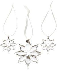 Swarovski 3 pièces/1 x étoile édition annuelle 2013 2 x 5004492 en Forme d'étoile Petit - Multicolore