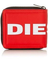 DIESEL ZIPPY HIRESH S, Sac et portefeuille Rouge (Fiery Red) 2x9,5x11,5 cm (W x H x L)