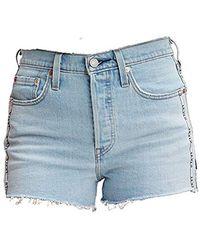 Levi's 501 High Rise Short Pantalones Cortos para Mujer - Azul