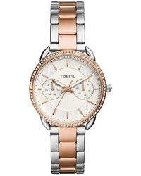 Fossil Tailor ES4396 Rose-Gold Stainless-Steel Japanese Quartz Fashion Watch - Metallizzato