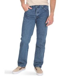 Wrangler Classic 5-pocket Regular Fit Cotton Jean - Blue