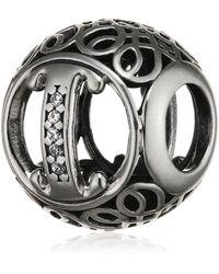 PANDORA Charm I ancien Argent 925/1000 791853CZ - Métallisé