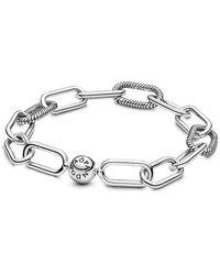 PANDORA Cadena pulsera Mujer plata - 598373-3 - Metálico
