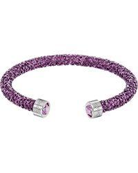 Swarovski Bracelet Crystaldust Violet - Manchette