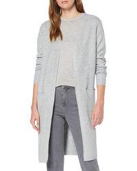 Vero Moda VMDOFFY LS Long Open Cardigan NOOS Strickjacke - Grau