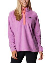 Columbia Plus Size Benton Springs Half Snap Pullover - Pink