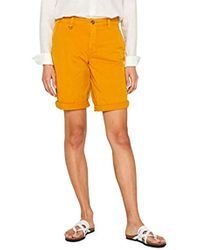 Esprit Pantalones Cortos para Mujer - Amarillo