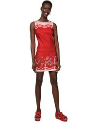 Desigual Dress Sleeveless Patrice Red - Rouge