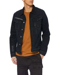 G-Star RAW S Arc 3D Slim JKT Arrow Print AW Denim Jacket - Blau