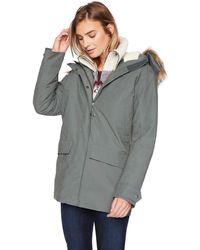 Jack Wolfskin Helsinki Jacket Waterproof Insulated Coat 100% Pfc Free - Gray