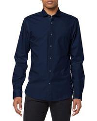 Scotch & Soda NOS Cotton Elastane Shirt Slim fit Cut Away Collar Freizeithemd - Blau
