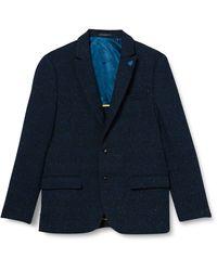 Scotch & Soda Classic Singlbreasted Neps Wool-Blend Blazer Giacca Casual - Blu