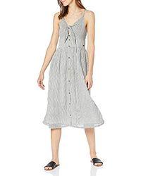 Superdry Jayde Tie Front Midi Dress Vestido para Mujer - Gris