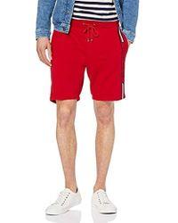 Tommy Hilfiger Herren Basic Branded Sweatshort - Rot