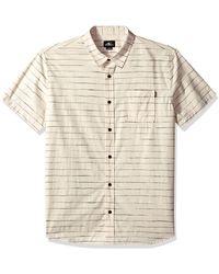 O'neill Sportswear Standard Fit Short Sleeve Woven Button Down Stripe Shirt - Multicolour
