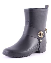 Tommy Hilfiger Oana 3r Womens Rubber Wellington Boots Black - 39 Eu