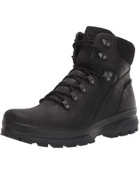 Ecco Rugged Track Hydromax Water-Resistant Plain Toe Hiking Boot - Schwarz