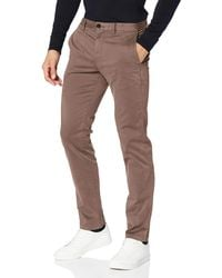 Tommy Hilfiger Straight Denton Chino Gmd Flex Trouser In Grey For Men Save 36 Lyst