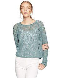 Billabong - Sea Ya Soon Open Knit Sweater - Lyst