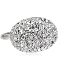 """T Tahari - """"essentials"""" Oval Crystal Pave Ring, Size 7 - Lyst"""