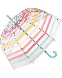 Esprit Ombrello automatico con motivo a strisce - Multicolore
