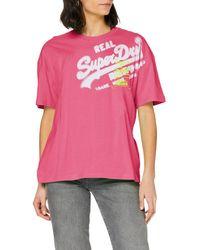 Superdry - Super 5 Deconstruct tee Camiseta - Lyst