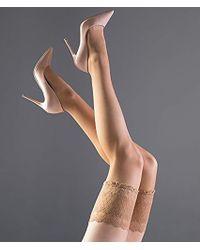 Falke - Pure Shine 15 Stayup Thigh High Stocking - Lyst