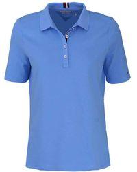 Tommy Hilfiger - Poloshirt Regular Fit Kurzarm Aqua - Lyst
