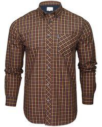 Ben Sherman S Shirt Long Sleeved 'signature House Check' - Brown