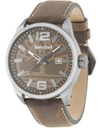 Timberland Analogue Quartz Watch With Leather Strap 15029jlu/12 - Multicolour