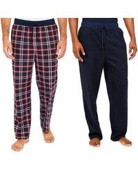 Nautica Sueded Fleece Pajama Pants 2 Pack - Rouge