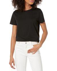 The Drop Courtney T-shirt en Jersey à Col Ras-du-cou et ches Courtes - Noir