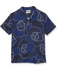 Goodthreads Standard-fit Short-sleeve Camp Collar Hawaiian - Blue