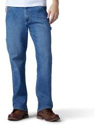 Lee Jeans Performance Series Extreme Motion Loose Fit Carpenter Jeans - Blau