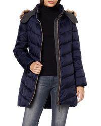 Esprit 099EE1G090 Abrigo - Azul