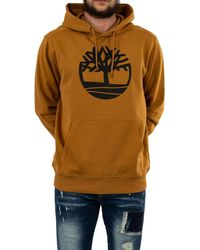 Timberland Core Tree Logo Pullover Hoodie Brushback Wheat Boot/Black LG - Multicolore