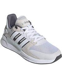 adidas Run90s Running Shoes Cloud White/Cloud White/Raw White 11.5 - Blanc