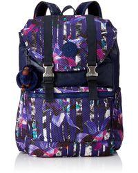 Kipling Grand sac à dos - Multicolore ( Urban Flower Bl ) - (Multi - Bleu
