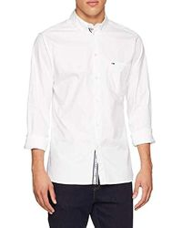 5f438259 Tommy Hilfiger Tape Woven Long Sleeve Shirt in White for Men - Lyst