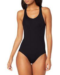 AURIQUE Racer Back Swimsuit, - Black