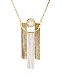 Lucky Brand - Painted Pendant Necklace - Lyst