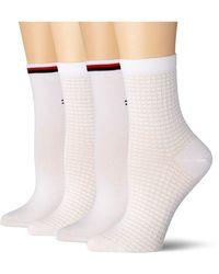 Tommy Hilfiger Waffle Short Socks - Blanco