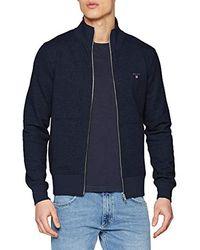 GANT The Original Full Zip Cardigan Pullover - Blau