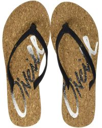 O'neill Sportswear Fw Logo Cork Sandals Shoes & Bags - Black