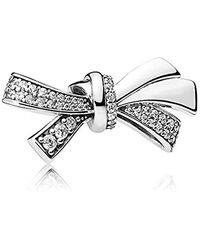 PANDORA Moments Brilliant Bow Bead Charm 925 Sterlingsilber - Mettallic