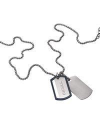 DIESEL Men Stainless Steel Pendant Necklace - Dx1197040 - Metallic