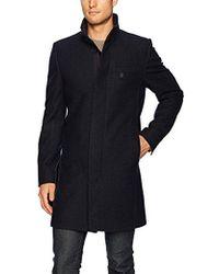 Ted Baker - Marvin Modern Slim Fit Wool Funnel Neck Overcoat - Lyst