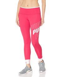 PUMA Modern Sports Foldup Leggings - Rot