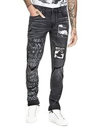 Guess - Slim Taper Brilliant Blue Wash Jeans - Lyst