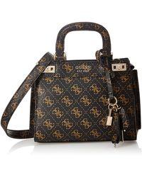 Guess Katey Mini Satchel Bags Crossbody pour femme - Noir